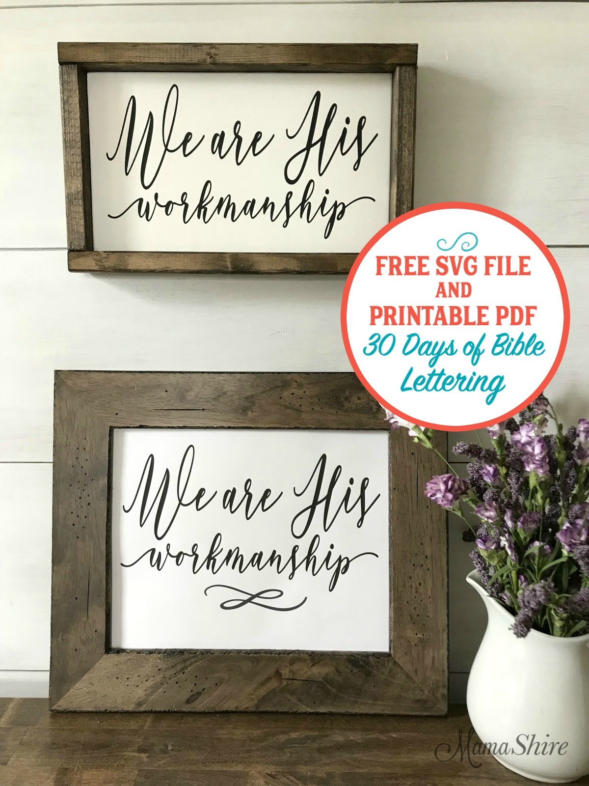 Free Bible Verse SVG Cut File and Printable PDF