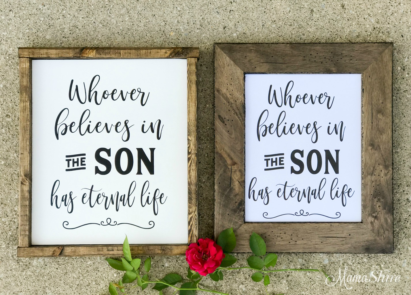 Scripture verse wood sign & printable PDF.